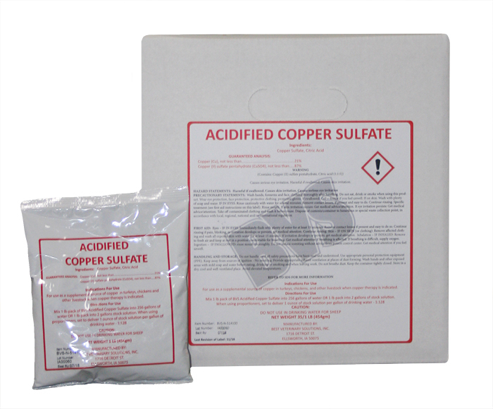 Acidified Copper Sulfate 1lb pack