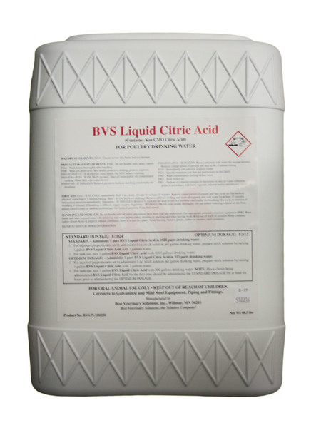 BVS Liquid Citric Acid 5 gallon